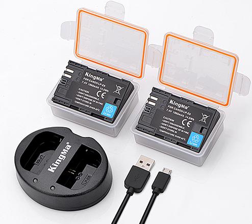 劲码LP-E6两电一充套装适用于佳能Eos 5d Mark Iv III 7D2 60D