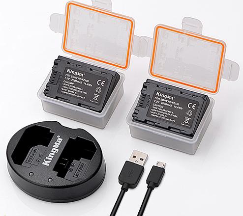 劲码 NP-FZ100两电一充套装适用于索尼A7 III BC-QZ1 / A9 / ILCE-9 / A7R3