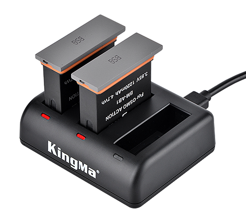 Kingma BM-AB1 Battery & Triple USB Charger Kit for DJI OSMO Action Camera
