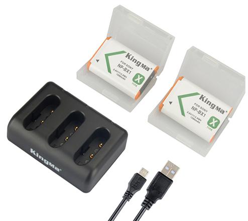 劲码NP-BX1两电一充套装适用于索尼RX100 M2 RX100 II RX100III 微单相机
