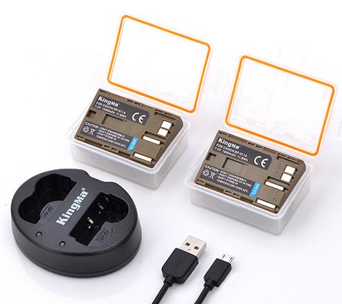 劲码相机电池BP-511两电池一双充充电器套装