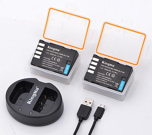 劲码相机电池DMW-BLF19E两电池一双充充电器套装