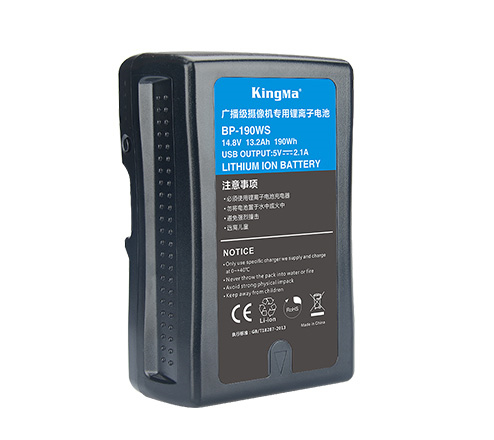 KingMa 190Wh 13400mAh V-Lock Mount Battery for Sony Camcorder/Video Camera/BMCC/LED Light