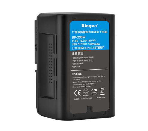 KingMa 15600mAh 230Wh High Capacity V-Lock Battery V Mount Battery for Sony Professional Video Camcorders and LED Lights