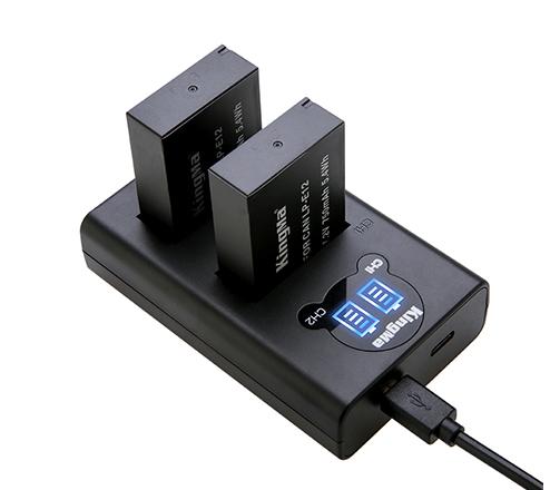 劲码相机电池LP-E12电池充电器套装适用于佳能相机