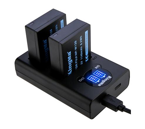 劲码相机电池NP-W126电池充电器套装适用于索尼相机