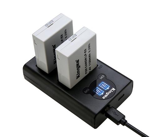 劲码相机电池LP-E8电池充电器套装适用于佳能相机