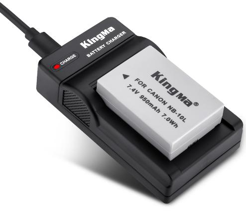 Kingma NB-10L battery & charger kit for Canon PowerShot GX1 Camera