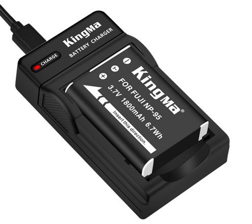 Kingma NP-95 battery & charger Kit for FUJI X70 X100 camera