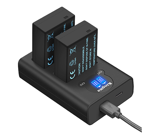 KingMa Camera Battery DMW-BLC12 and LCD Dual Charger Set