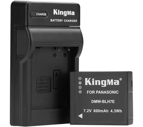 劲码 DMW-BLH7E 电池充电器套装适用于松下GM5 GF7相机