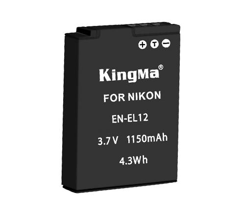 Kingma EN-EL12 battery for Nikon P300 P310 Camera
