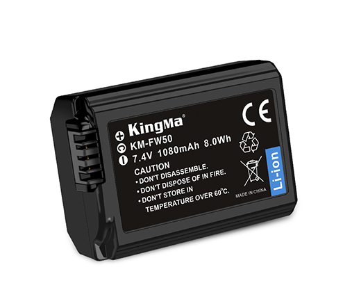 KingMa Camera Battery NP-FW50 For Sony A5000 A6300 A7R2 NEX-5T Camera