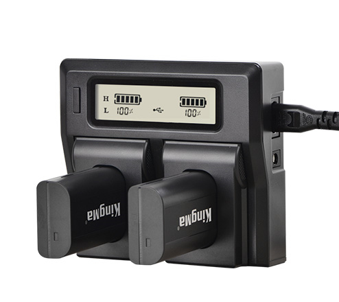 Kingma Dual LCD charger and battery kit for Panasonic DMW-BLJ31