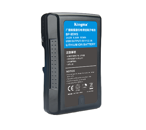 KingMa 6600mAh 95Wh Rechargeable V-Lock V Mount Li-ion Battery for Sony Video Cameras Camcorders  and LED Light Panel