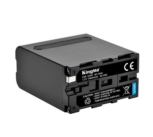 KingMa 13400mAh NP-F990 High Capacity Rechargeable Li-ion Battery for Sony NP-F970, NP-F960, NP-F750, NP-F550