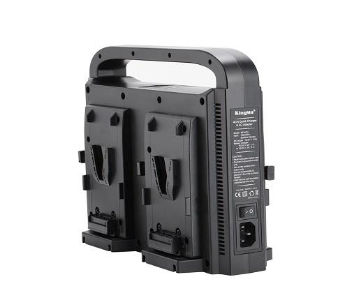KingMa Intelligent V-Mount Battery Charger BP-4CH for V-Mount Li-ion Battery