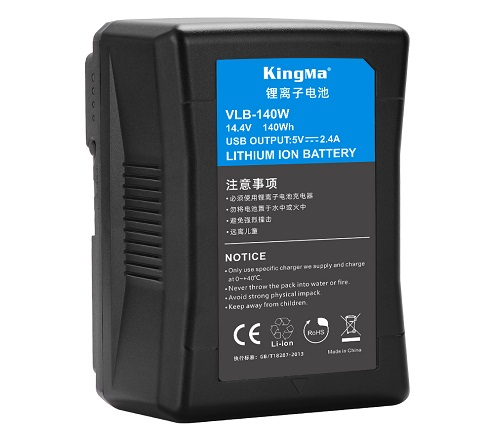 KingMa 140Wh 10000mAh V-Lock V Mount Rechargeable Lithium-ion Battery With USB output For Photography Light