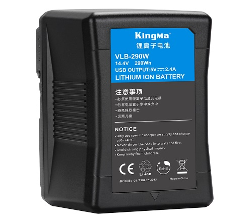 KingMa 290Wh 20000mAh V-Lock V Mount Rechargeable Lithium-ion Battery With USB output For Photography Light