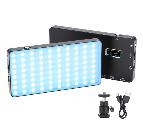 KingMa Mini full color RGB LED photography light with Built-in Battery for Shooting