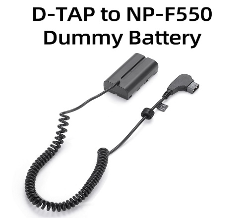 KingMa D-TAP NP-F550 Dummy Battery for Sony FM50, F055H, QM71, QM91