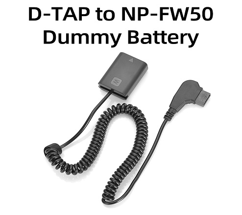 KingMa D-TAP NP-FW50 Dummy Battery for Sony A7, A7R2, A7M2, A6300, A6000
