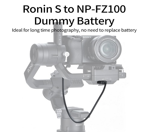KingMa For Ronin S to NP-FZ100 Dummy Battery Compatible with Sony ILCE-9 A7RM3 A7M3 A7R3 A9