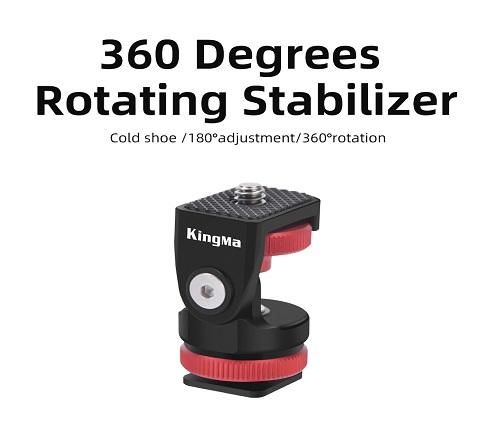 KingMa Aluminium Alloy 360 Degrees Rotating Stabilizer For Camera Shooting
