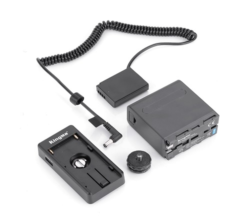 KingMa LP-E10 Dummy Battery DC Coupler with Li-ion Battery and Adapter Plate kit